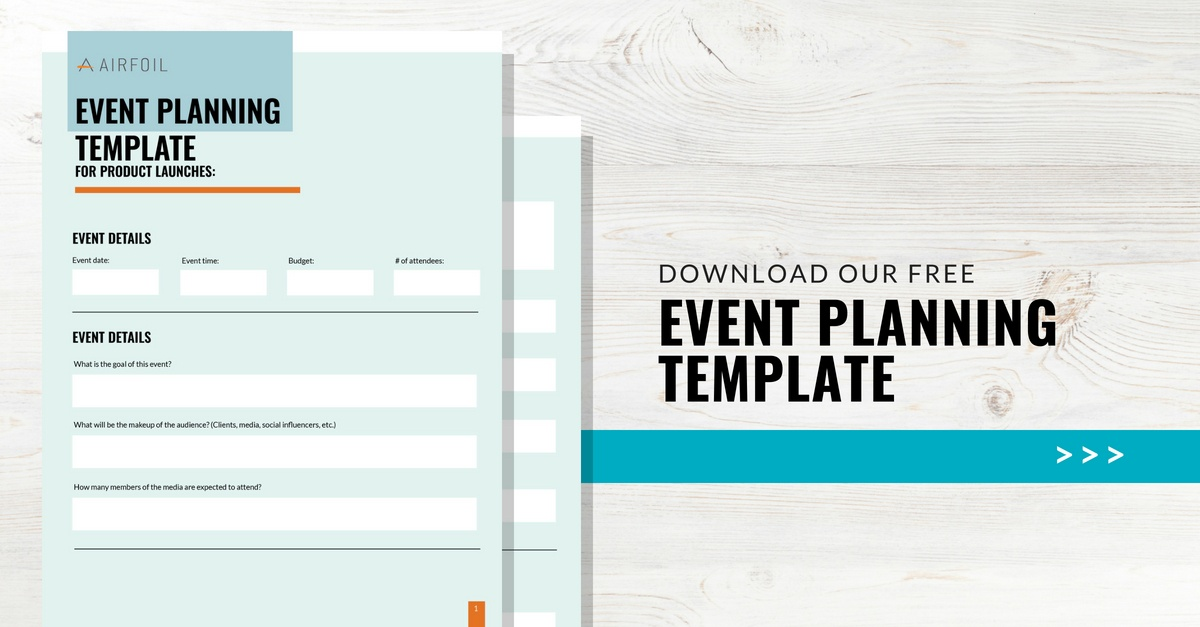Product Launch Event Planning Template